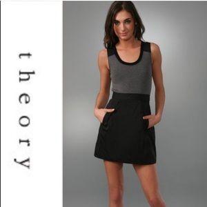 THEORY Sleeveless DRISTI Tank Dress 6 wool blend